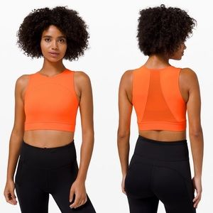 LULULEMON HOTTY HOT CROPPED TANK-HIGHLIGHT ORANGE